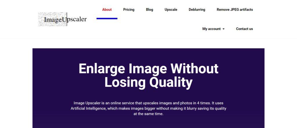 Agrandir l'image sans perte de qualité - imageupscaler
