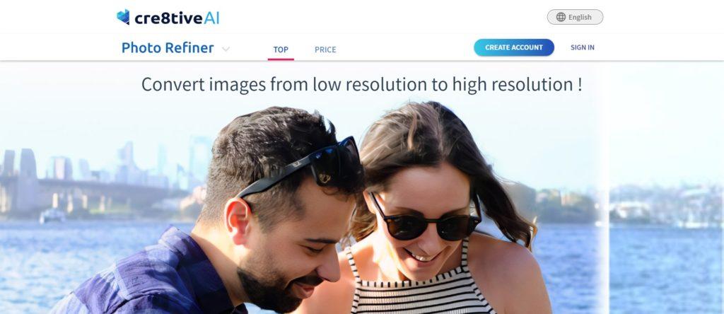 Améliorer la résolution photo - Photo Refiner