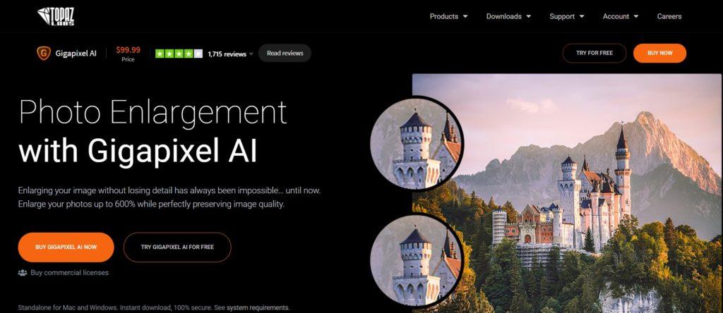 Augmenter la résolution des images - Gigapixel AI par Topaz Labs