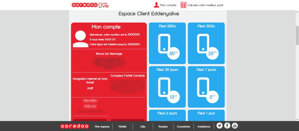 Comment Accéder à l'espace client Eddenyalive Ooredoo Tunisie