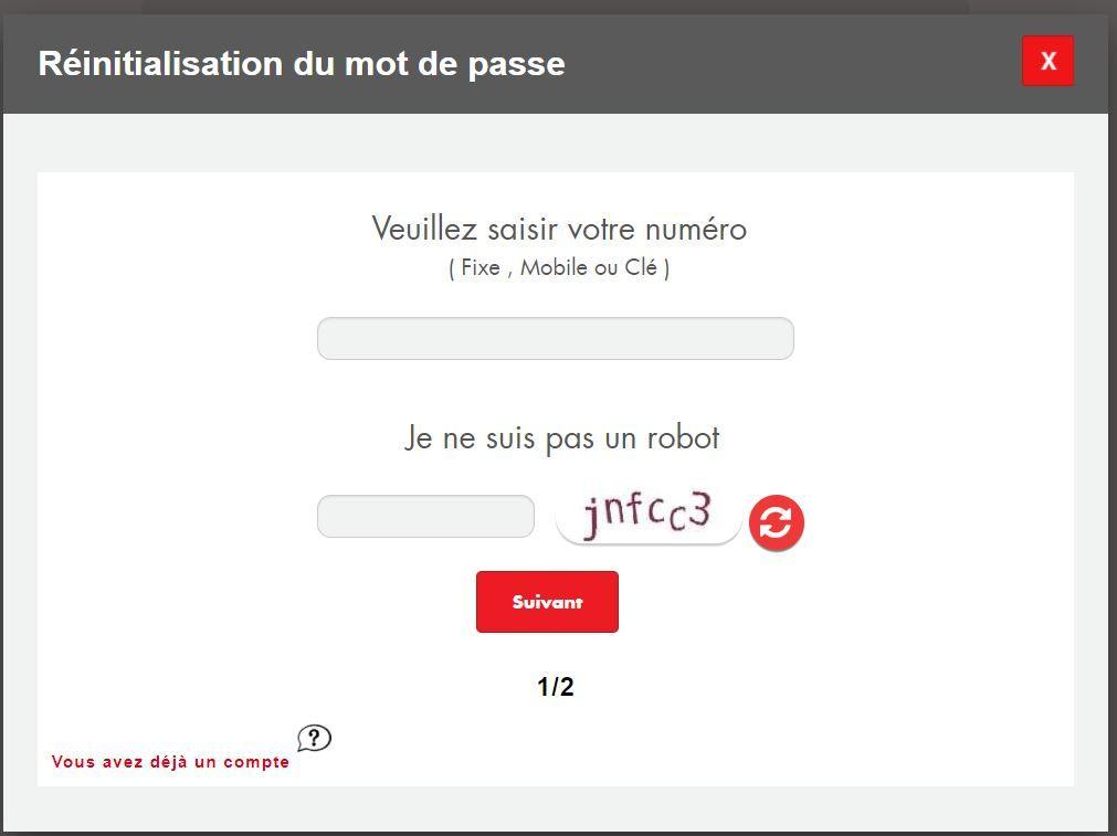 eddenyalive espace client ooredoo - Réinitialisation du mot de passe