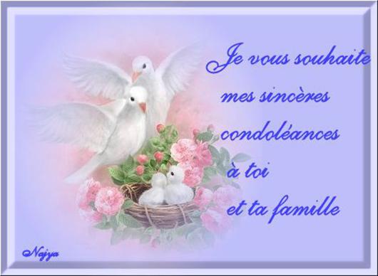 Mots de condoléances pour famille d'un collègue : Je vous souhaite mes sincères condoléances à toi et ta famille.
