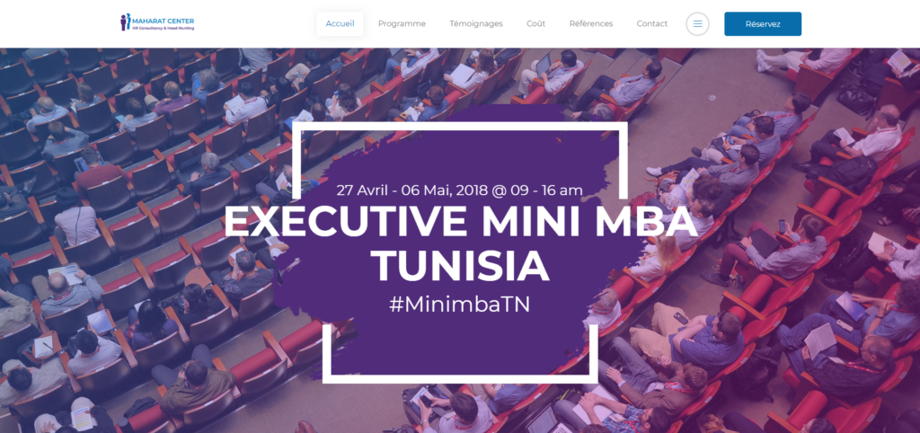 Le programme Executive Mini MBA de Maharat Center tunisie