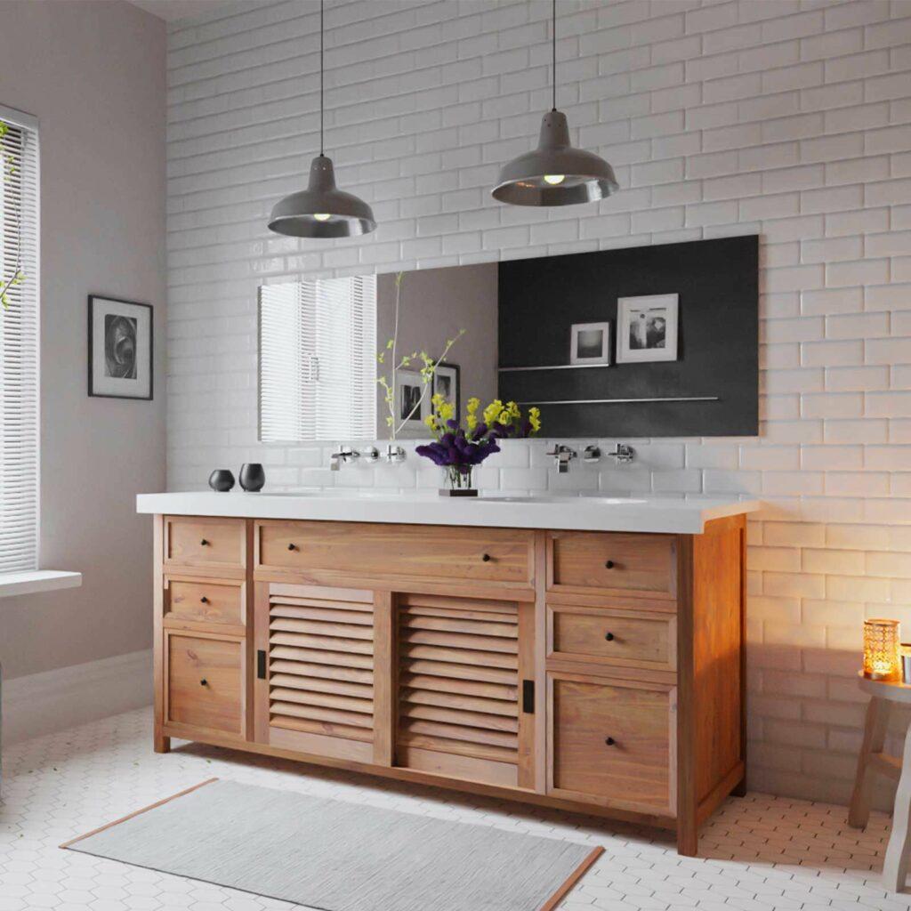 Le teck est une essence de bois très populaire pour des finitions en accord avec les tendances modernes