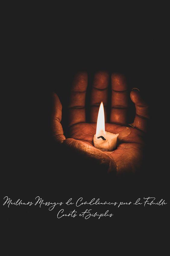 Meilleurs Messages de Condoléances pour la Famille Courts et Simples