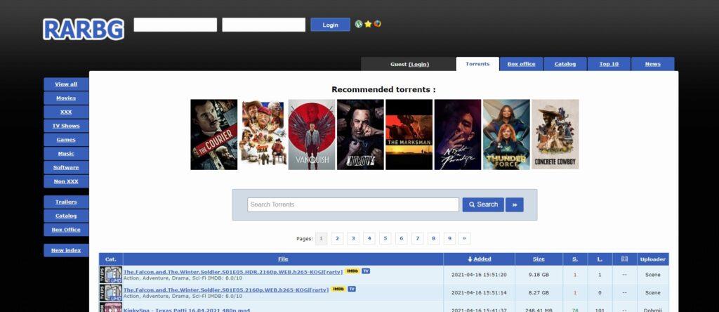 Meilleurs Sites de Téléchargement Torrent films - RARBG