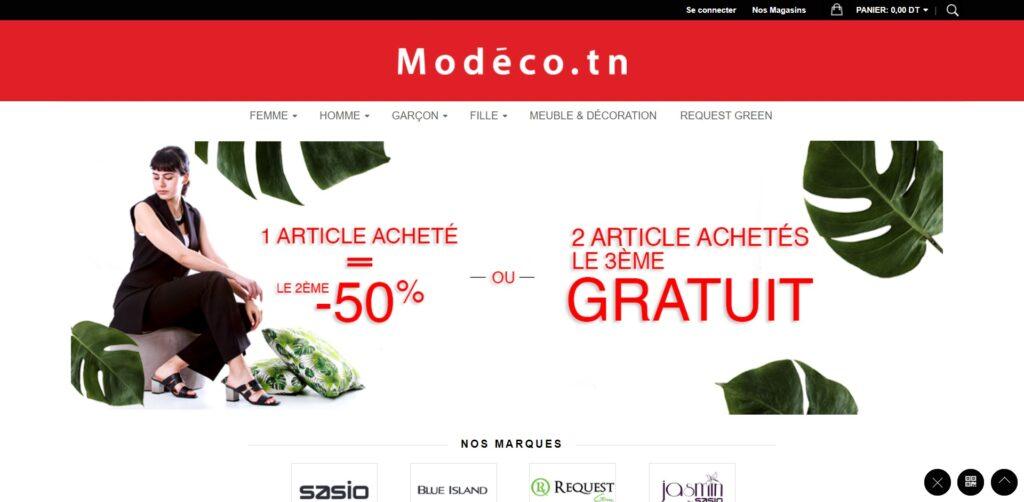Meilleurs sites de vente en ligne vêtements & Mode : Modéco