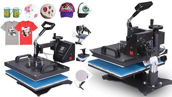 Presse à Chaud Transfert Press Machine 5 en 1 Multifonctionnel