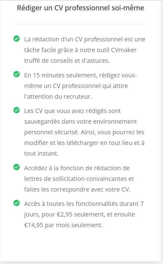Créateur de CV en ligne - Rédiger un CV professionnel soi-meme en ligne