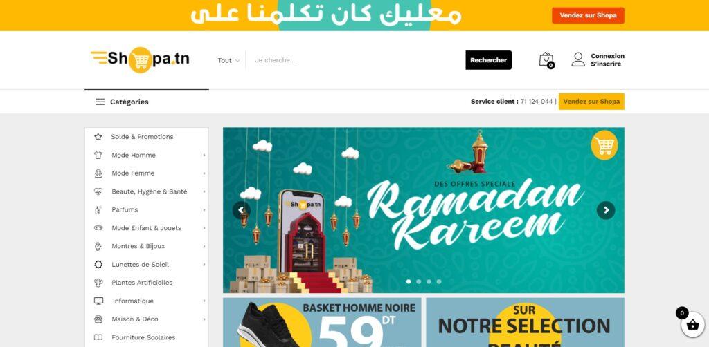 Shopa.tn : Marketplace Vente en Ligne Tunisie à Bas Prix