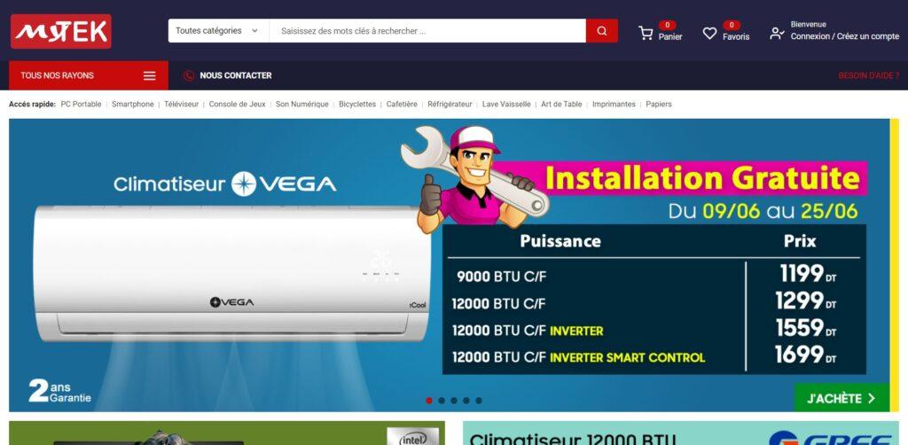 Sites de Vente en ligne : MyTek - Vente en ligne Pc portable, Smartphone, TV LED Tunisie