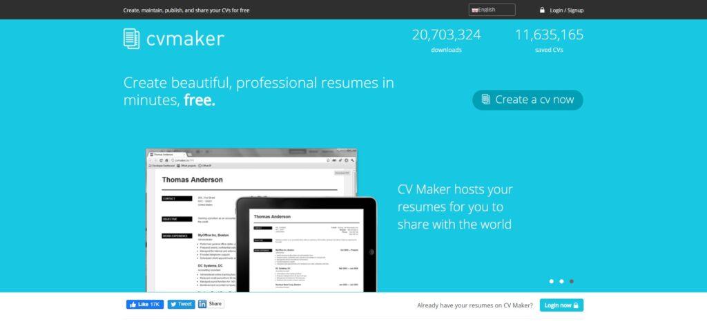 cvmaker création de cv en ligne