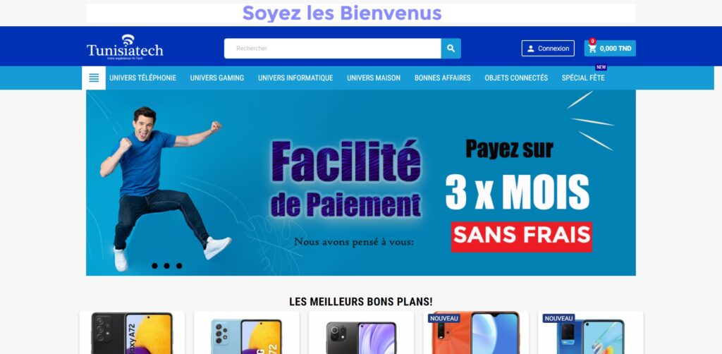 tunisiatech.tn - Site de vente en ligne de téléphonie en Tunisie