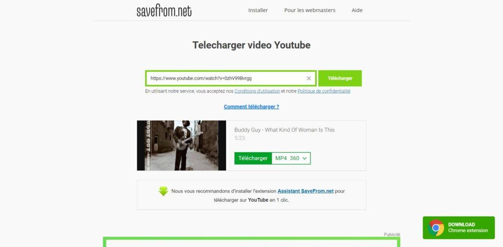 Télécharger vidéos YouTube gratuit - Page de téléchargement