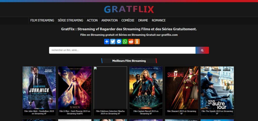 GratFlix - Streaming vf Regarder des Streaming Films et des Séries Gratuitement