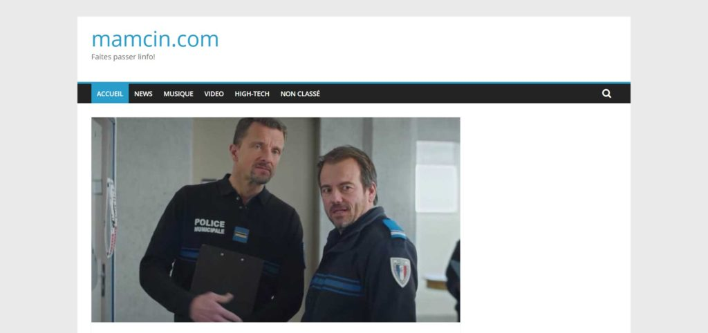 Page d'accueil Mamcin.com