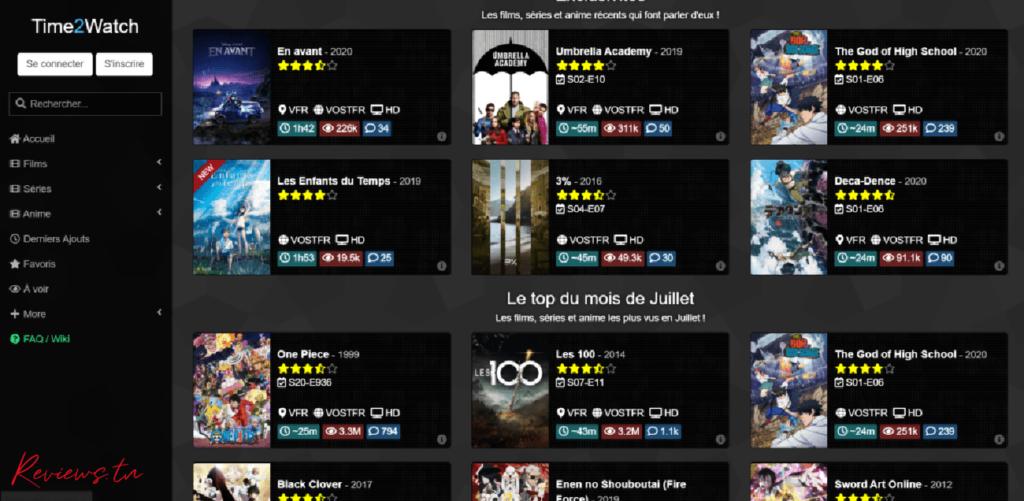 Time2watch fermé - site de streaming et téléchargement gratuit films et séries
