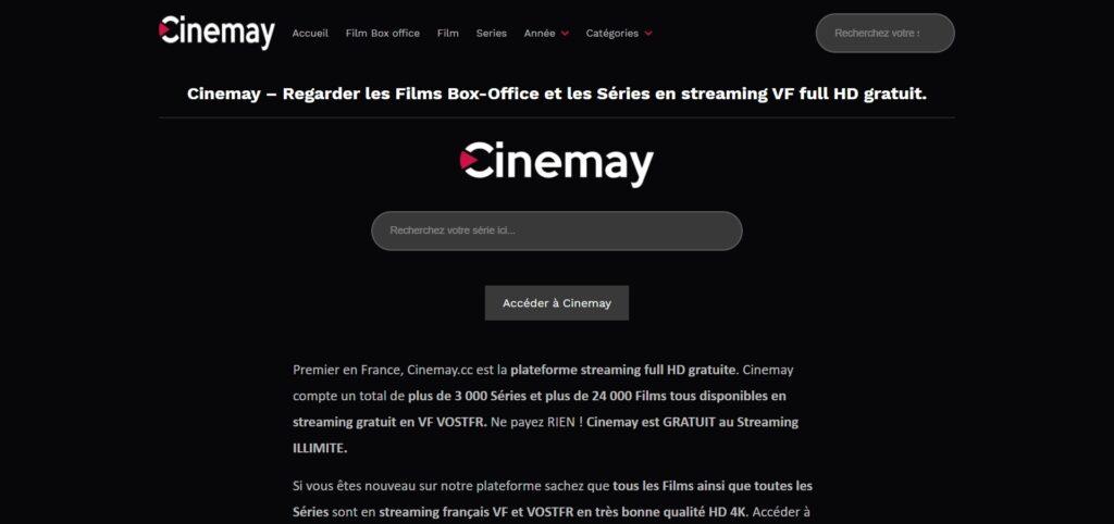Cinemay.cc - Regarder tous les Films et Séries en streaming HD VF VO