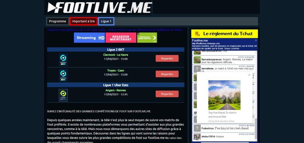Footlive - Football streaming live gratuit HD et illimité