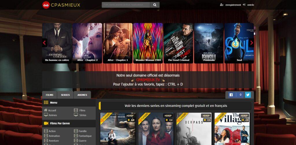 Cpasmieux pour regarder des Films Streaming et Séries en Streaming VF