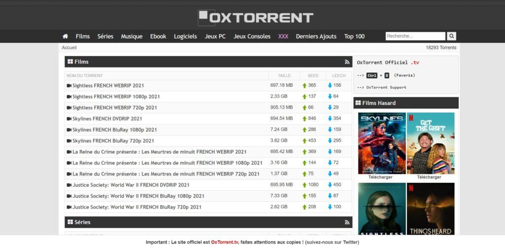 OxTorrent com - Télécharger avec OxTorrent Officiel