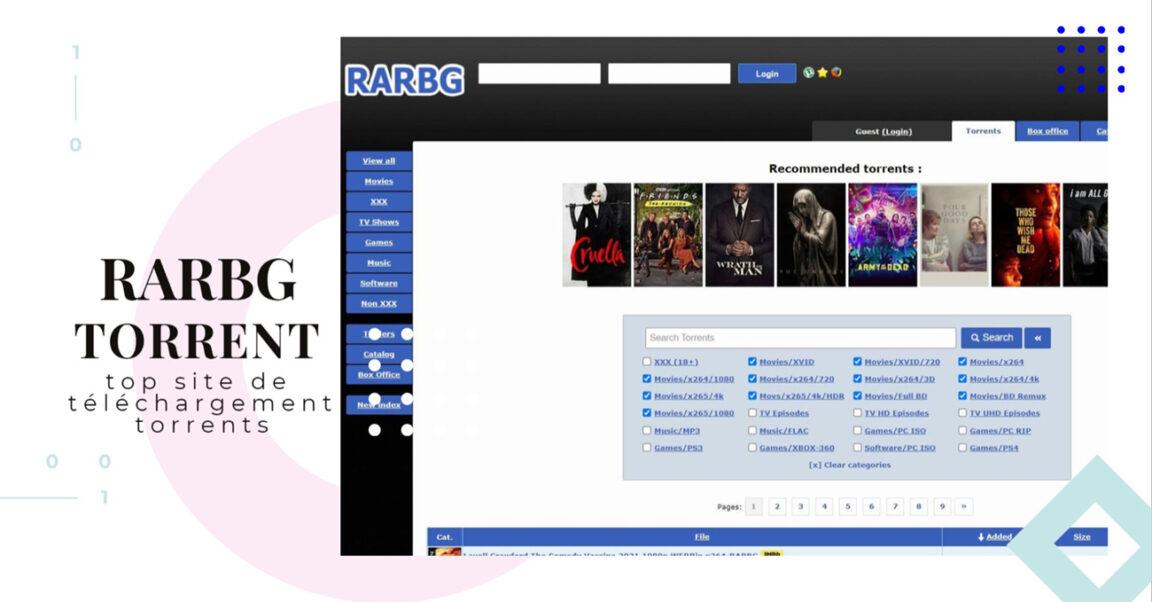 RARBG : Meilleur Site télécharger des Films et séries en Torrent Gratuit (Adresse et Proxy)