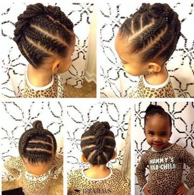 coiffure fillette tresse africaine à essayer !