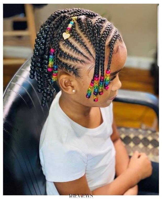 Tresse africaine pour petite fille sénégalaise