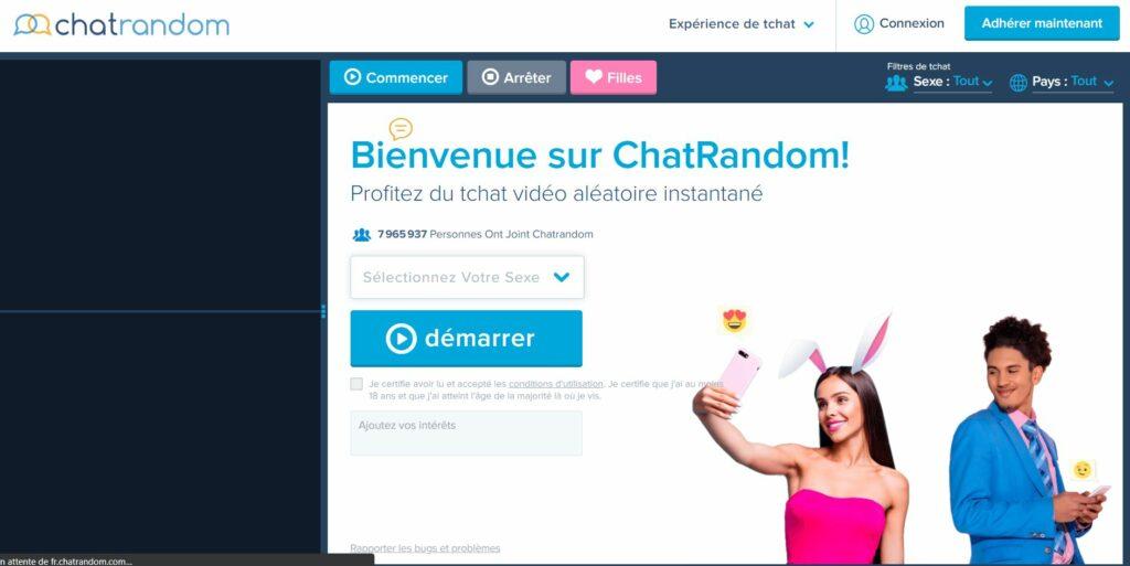 Avis Top site Chat Cam : ChatRandom