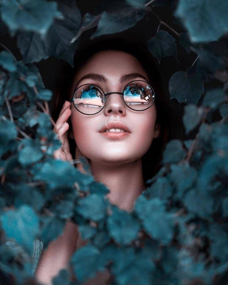 Idée de photo de profil originale avec de la nature.