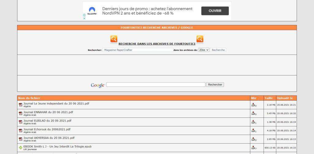 Rechercher des livres PDF et Epub - Comment télécharger un livre sur fourtoutici ?