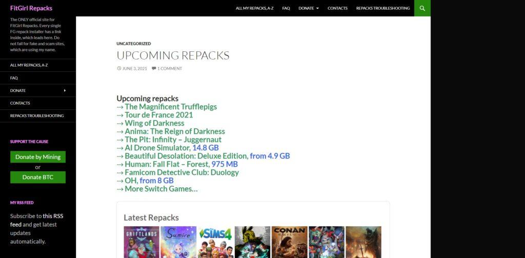 FitGirl Repacks - top site de téléchargement gratuit jeux repackés