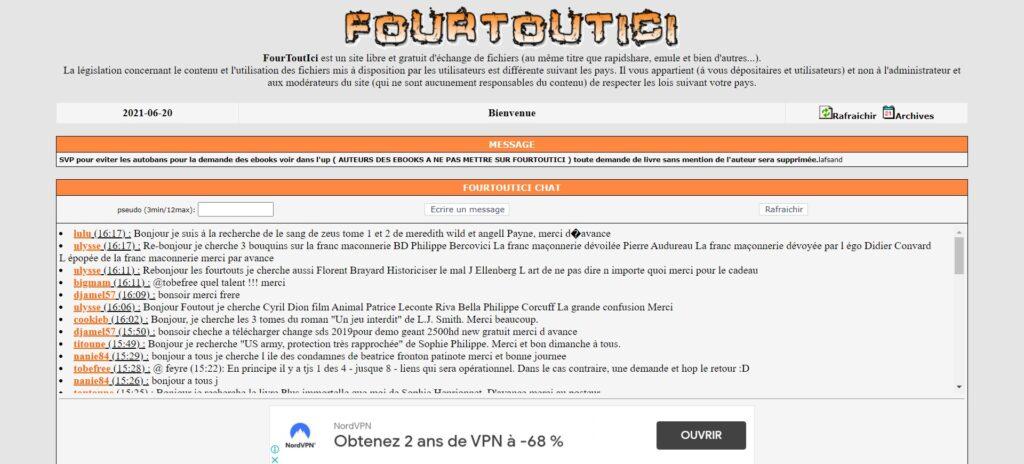 Fourtoutici pro - Four Tout Ici est un site libre et gratuit d'échange de fichiers (au même titre que rapidshare, emule et bien d'autres...)