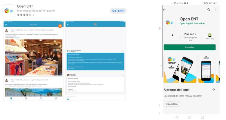 L'application mobile de l'ENT 77