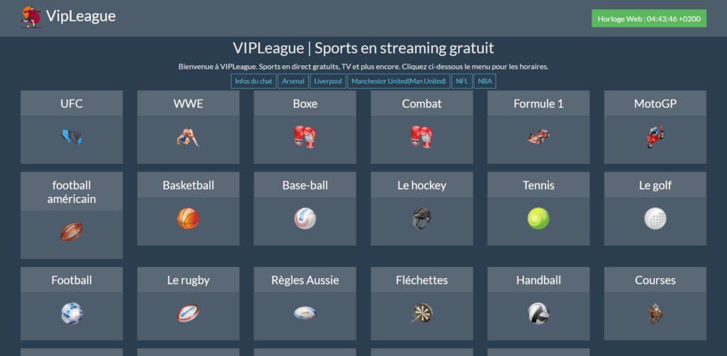 VIPLeague Sport - Sports en streaming gratuit