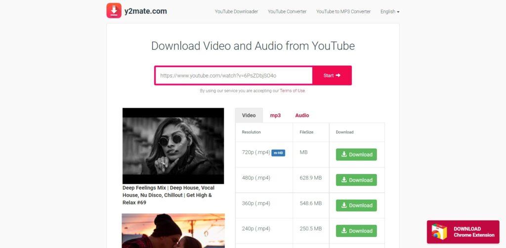 Y2mate - convertisseur vidéos  MP3, MP4, 3GP gratuitement