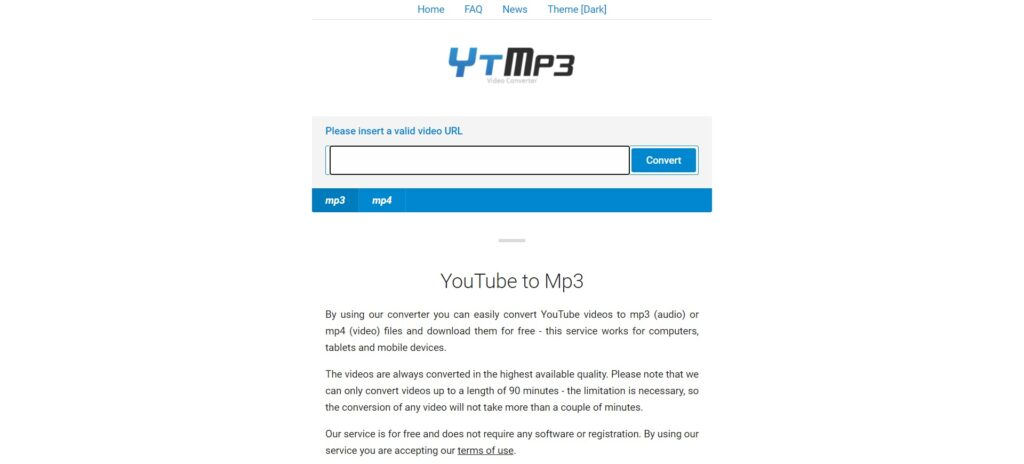 alternatives à y2mate - YouTube to Mp3 Converter - ytmp3 cc