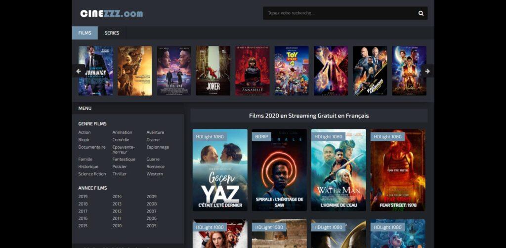 Regarder les meilleurs films et des séries en streaming illimité et gratuit sur CinezZz.