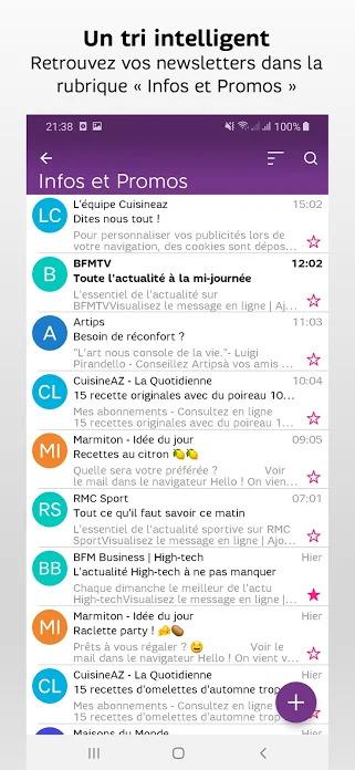 Comment se connecter à la boite mail SFR sur mobile