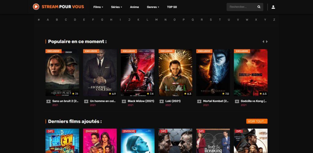 Stream pour vous - Regarder films et séries vf complète et gratuit
