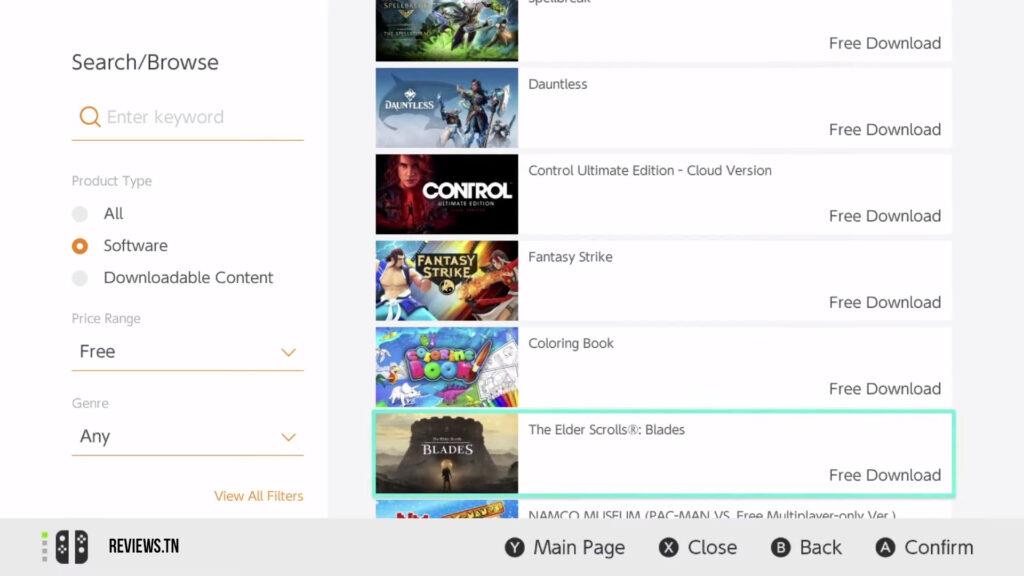 jeux gratuits sur Nintendo Switch