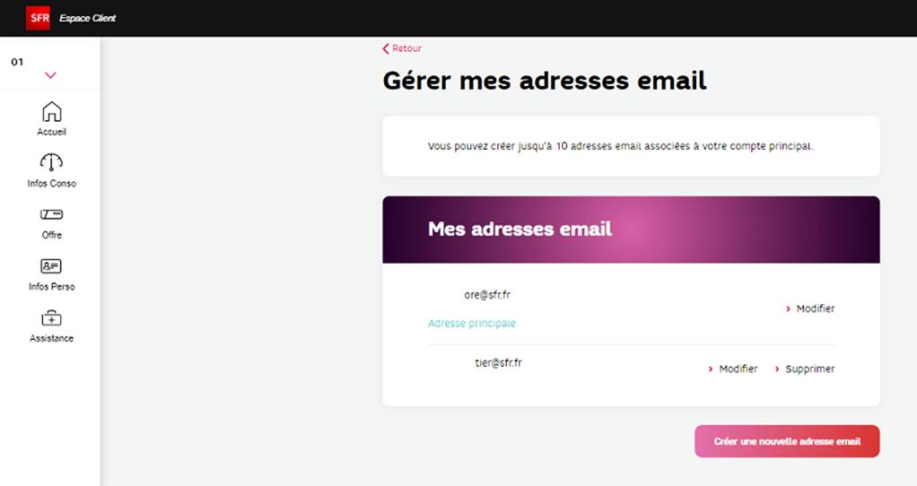 Comment supprimer une adresse mail SFR