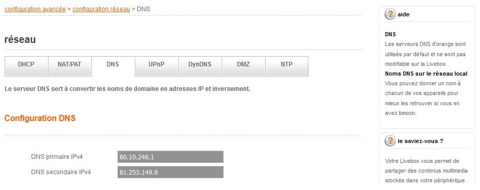 Changer le DNS de votre routeur