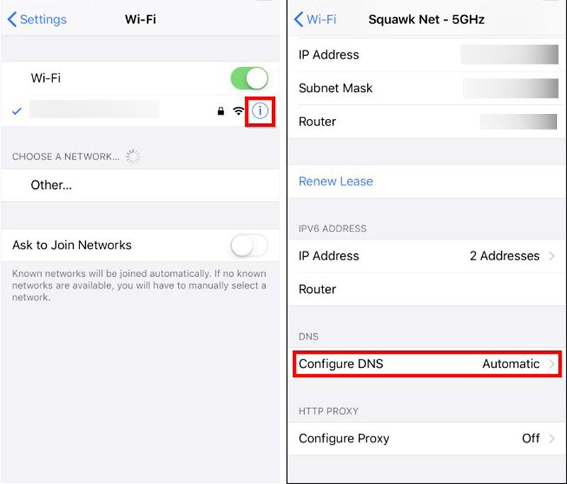 Changer le DNS sur un iPhone ou un iPad
