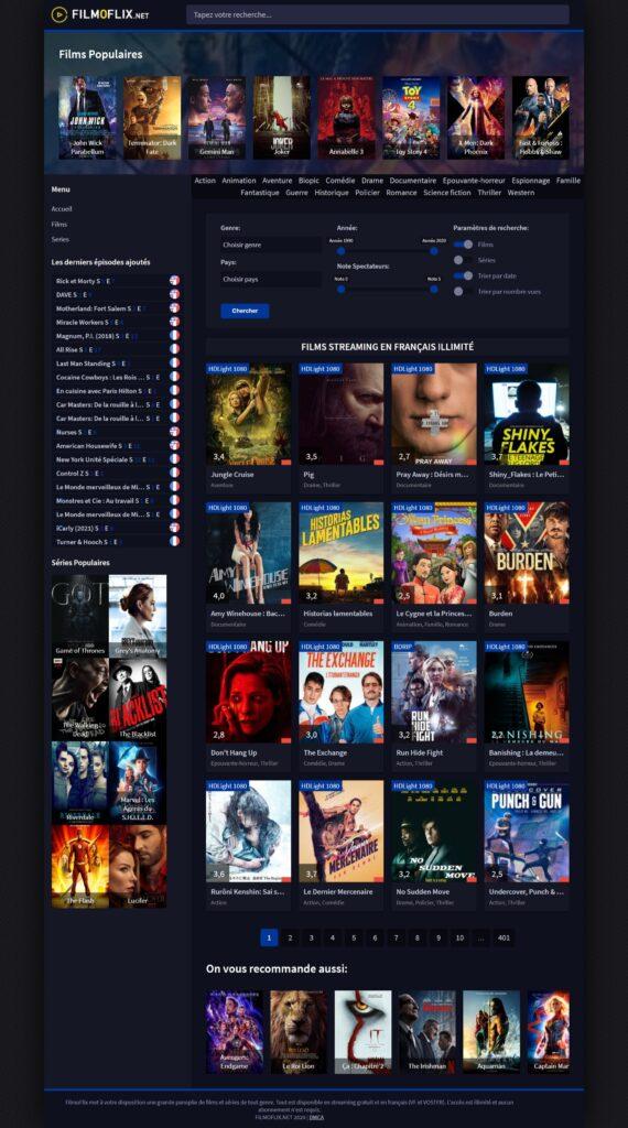 Filmoflix Streaming - Voir film streaming gratuit sur FilmoFlix, Streaming des films et series en VF ou Vostfr, accès illimité et qualité HD, Stream des films Complets.
