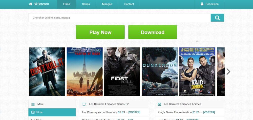 SkStream - Films, séries et mangas en Streaming gratuit et illimité