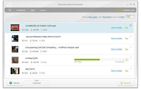 sauvegarder vidéo internet - Freemake Video Downloader