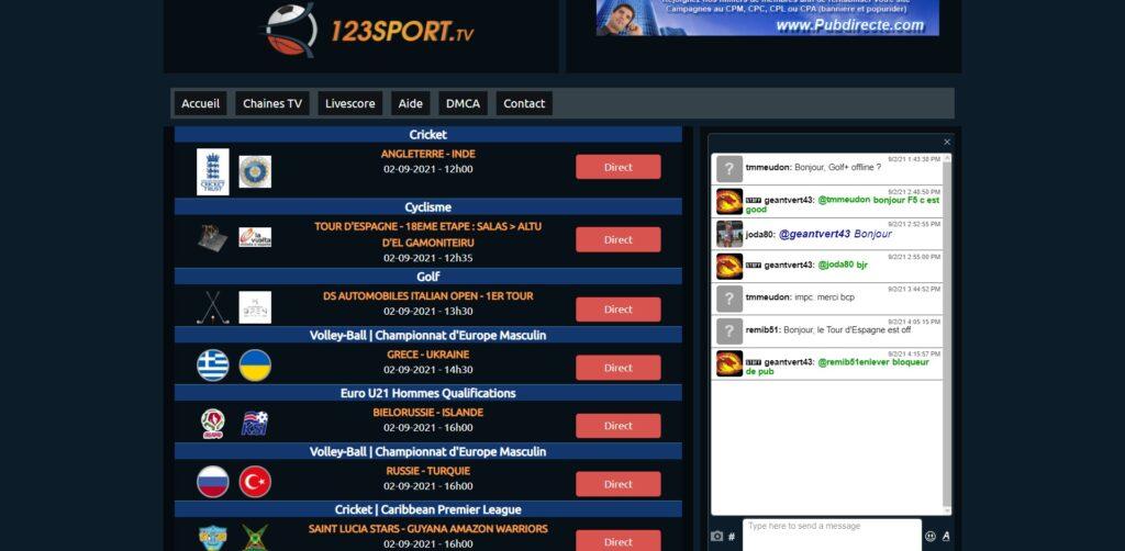 123sport.tv - regarder du Football en Streaming Gratuitement