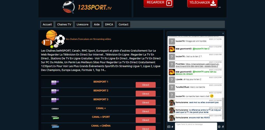 Test 123sport.tv - 123sport fonctionne comme un annuaire. Il partage un lien de haute qualité sur son site web que les utilisateurs peuvent utiliser pour accéder aux flux en direct et ainsi, regarder les matchs Football en Streaming Gratuitement.