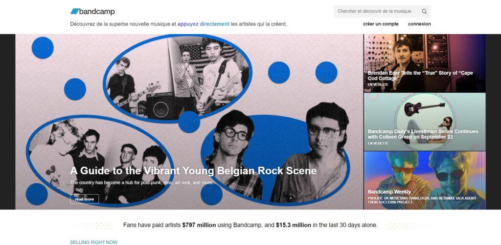 Bandcamp - Musique en ligne des artistes indépendants